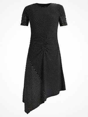 Topshop SPOT RUCHED MIDI Jerseyklänning black