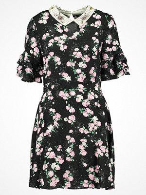 Topshop EMBELLISED COLLAR TEA DRESS Sommarklänning black