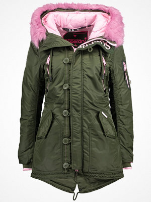 Superdry Parkas army/pink