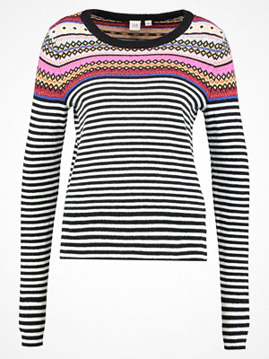 GAP CREW NECK PLACED STRIPE FAIRISLE Stickad tröja crazy fairisle