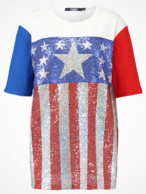 Jaded London STARS AND STRIPES SEQUIN PANELLED OVERSIZED TEE Tshirt med tryck multicoloured
