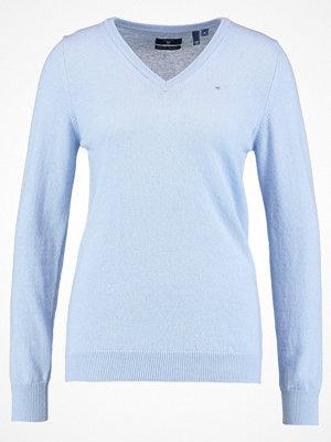 Gant EXTRAFINE VNECK Stickad tröja light blue