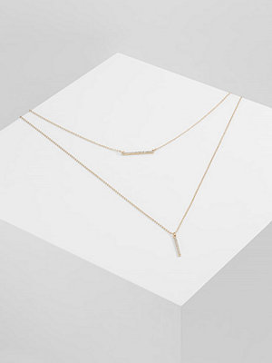 Only ONLLAURA 2 CHAIN NECKLACE Halsband goldcoloured
