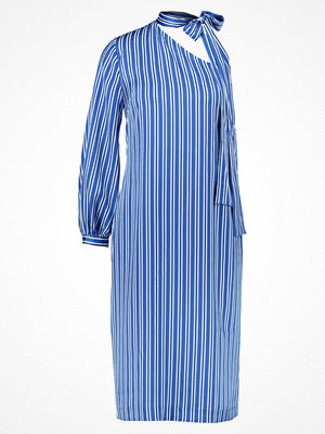 Banana Republic STRIPE ONE SHOULDER BOW NECK DRESS Cocktailklänning blue