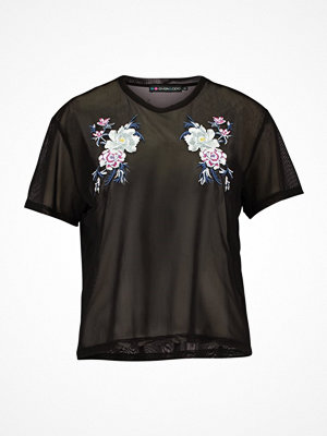 Even&Odd EMBROIDERY Tshirt med tryck black