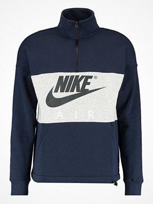Nike Sportswear AIR HALF ZIP TOP Sweatshirt obsidian/birch heather/anthracite