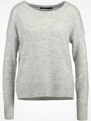 Vero Moda VMDUARTE BOATNECK BOO Stickad tröja light grey melange