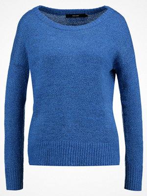 Vero Moda VMDUARTE BOATNECK BOO Stickad tröja strong blue