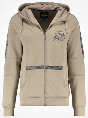 Sportjackor - Kings Will Dream CAMO PANEL ZIP UP KIONE HOOD Träningsjacka sand