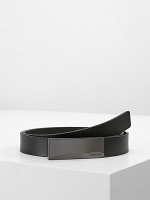 Bälten & skärp - Calvin Klein CURVED PLAQUE BELT Skärp black