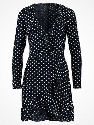 Miss Selfridge SPOT FRILL WRAP DRESS Sommarklänning navy