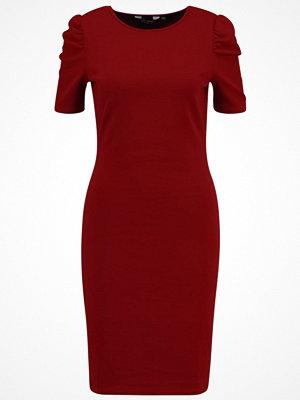 Dorothy Perkins MUTTON SLEEVE BODYCON Fodralklänning dark red