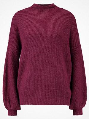 Miss Selfridge JUMBO LATTICE Stickad tröja burgundy