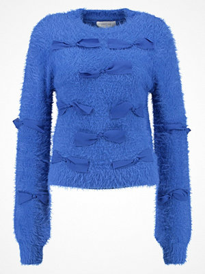 Lost Ink 3D BOWS JUMPER Stickad tröja blue