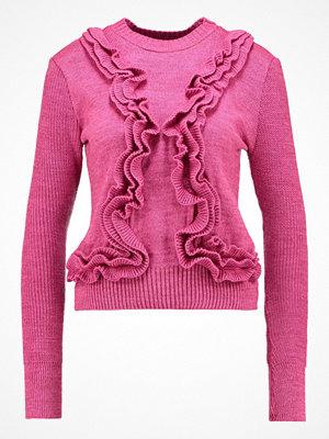 Lost Ink 3D RUFFLE JUMPER Stickad tröja pink