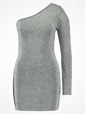 Topshop ONE SHOULDER DRESS Fodralklänning silver