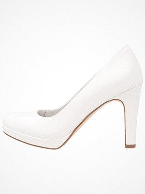 Tamaris Klassiska pumps white matt