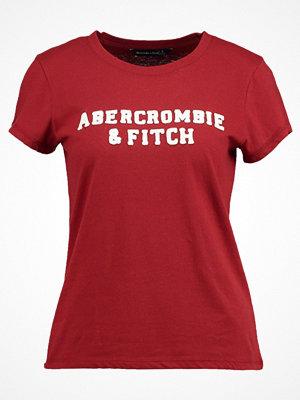 Abercrombie & Fitch SEASONAL LOGO TEE Tshirt med tryck dark red