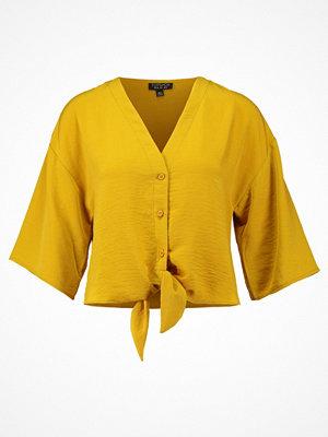 Topshop TIA TIE FRONT Blus mustard