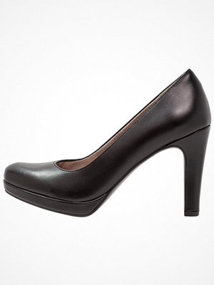 Tamaris Klassiska pumps black matt