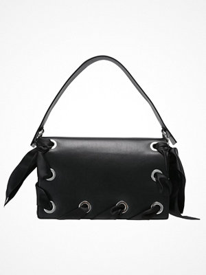 Topshop PREMIUM GRACE RIBBON SHOULDER Handväska black