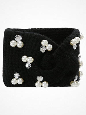 Mössor - Miss Selfridge PEARL HEADBAND Mössa black