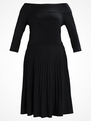 Anna Field Curvy DRESS WITH PLEATED SKIRT Jerseyklänning black