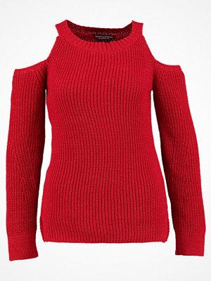 Dorothy Perkins COLD SHOULDER JUMPER Stickad tröja red