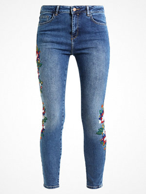 New Look EMBROIDERED SKINNY KENDALL Jeans Skinny Fit mid blue