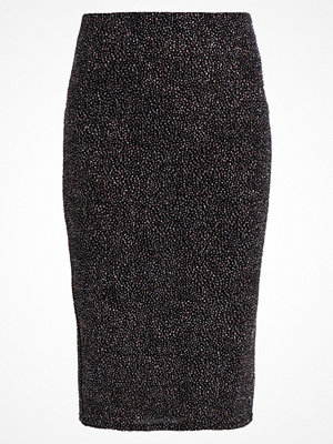 Dorothy Perkins GLITTER PENCIL SKIRT Pennkjol black