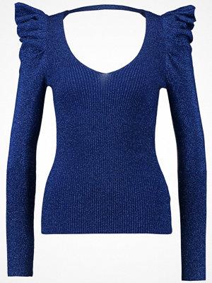 Miss Selfridge POWER SHOULDER Stickad tröja blue