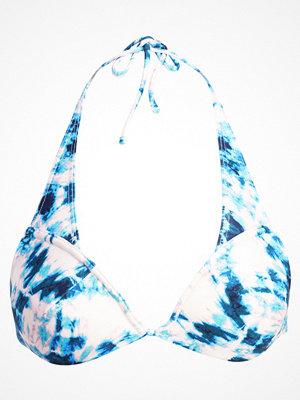 Topshop TIE DYE SOFT PLUNGE Bikiniöverdel blue