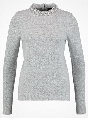 Dorothy Perkins PEARL NECK JUMPER Stickad tröja grey marl