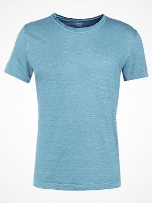 120% Lino UOMO GIROCOL Tshirt bas jade gricon