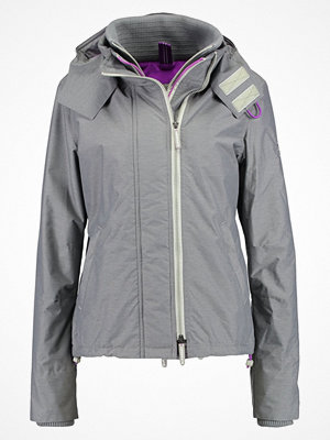Superdry POP ZIP HOOD ARCTIC Allvädersjacka light grey marl/orchid purple