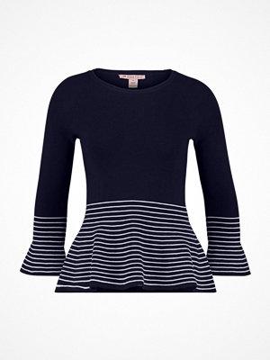 Anna Field Stickad tröja dark blue/offwhite