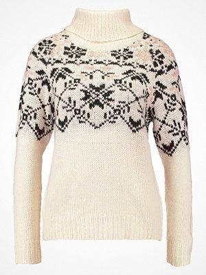 Vero Moda VMELFIE ROLLNECK Stickad tröja eggnog/black/rose cloud