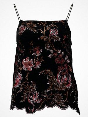 New Look VELVET CAMI Linne black