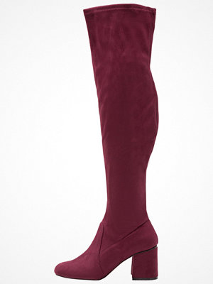 Miss Selfridge KITTIE Overkneeskor burgundy