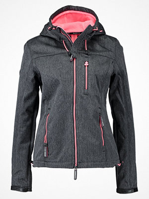 Superdry HOODED WINDTREKKER Allvädersjacka black grit/shocking pink