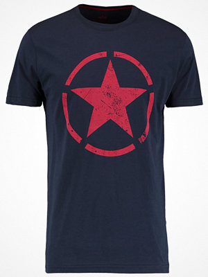 Alpha Industries STAR Tshirt med tryck repl blue/red
