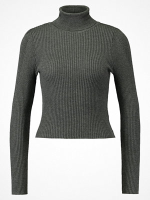 Topshop PUFF SLEEVE ROLL Stickad tröja grey marl