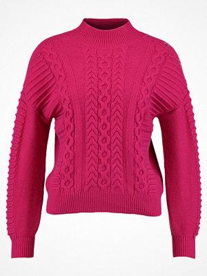 Karen Millen EYELET CABLE JUMPER Stickad tröja pink