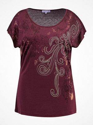 Anna Field Curvy Tshirt med tryck bordeaux
