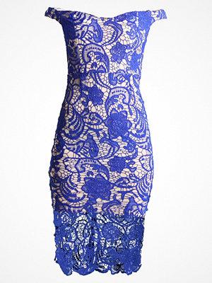 Missguided BLUE BARDOT DRESS Cocktailklänning blue
