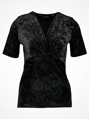 Dorothy Perkins TWIST FRONT Tshirt med tryck black