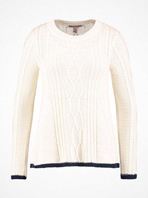 Anna Field Stickad tröja offwhite/dark blue
