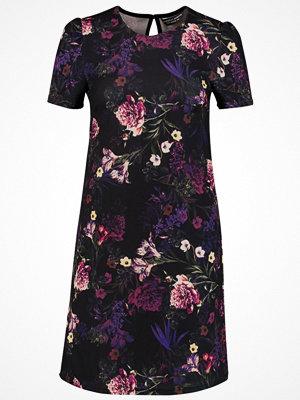 Dorothy Perkins FLORAL PRINT SHIFT Jerseyklänning purple/black floral