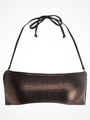 Topshop METALLIC BANDEAU Bikiniöverdel bronze