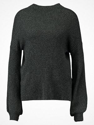 Vero Moda VMELLA BALOON Stickad tröja dark grey melange